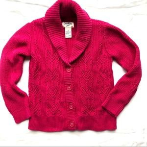 OshKosh 4T Knit Button Cartigan Sweater